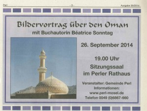 Vortrag Oman