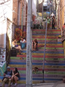 Treppe in Valparaiso