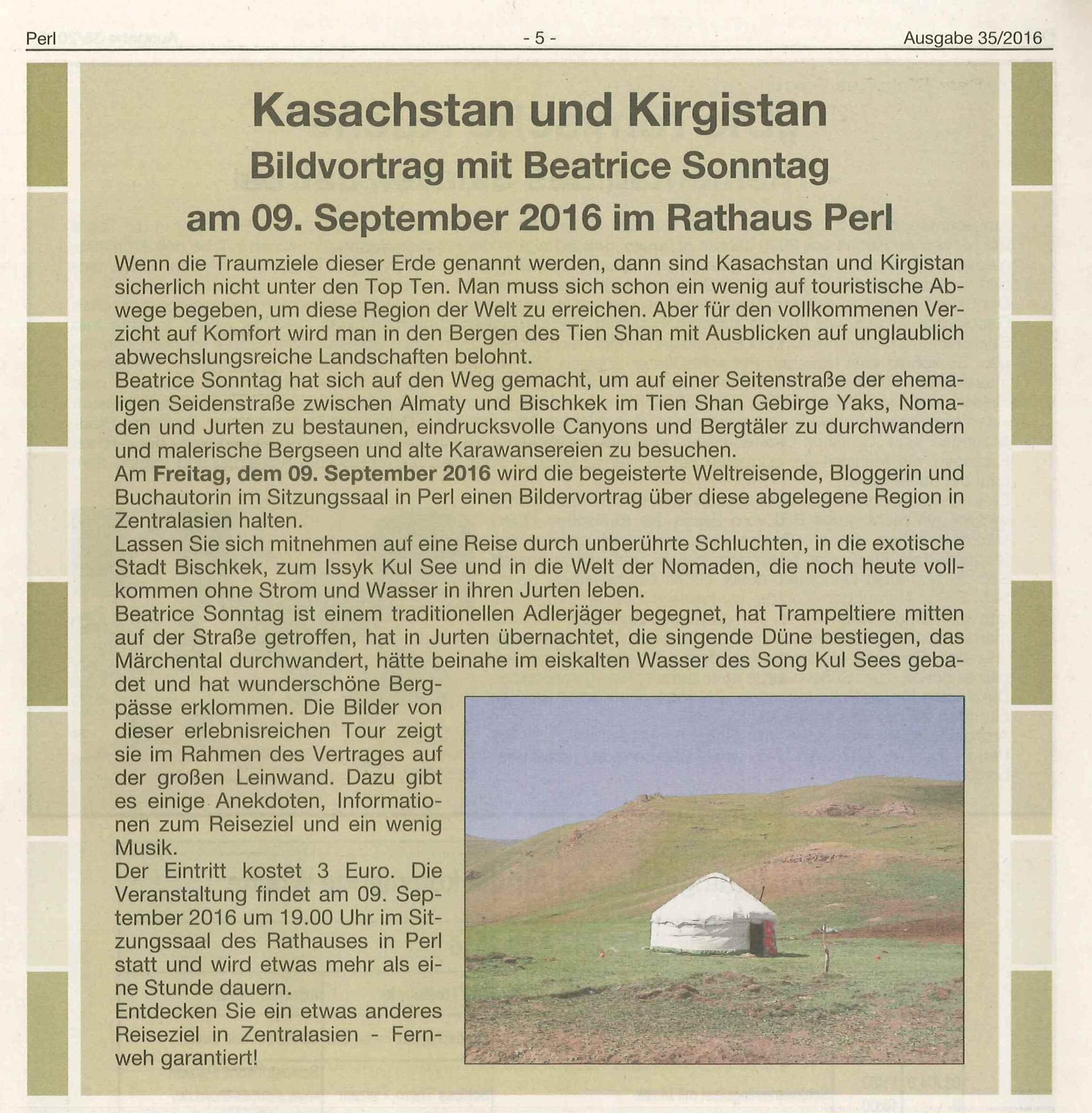 Kirgistan und Kasachstan