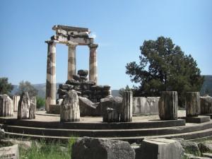 Athene Tempel in Delphi