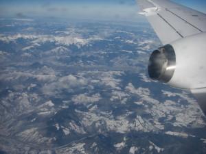 Flug über die Karpaten