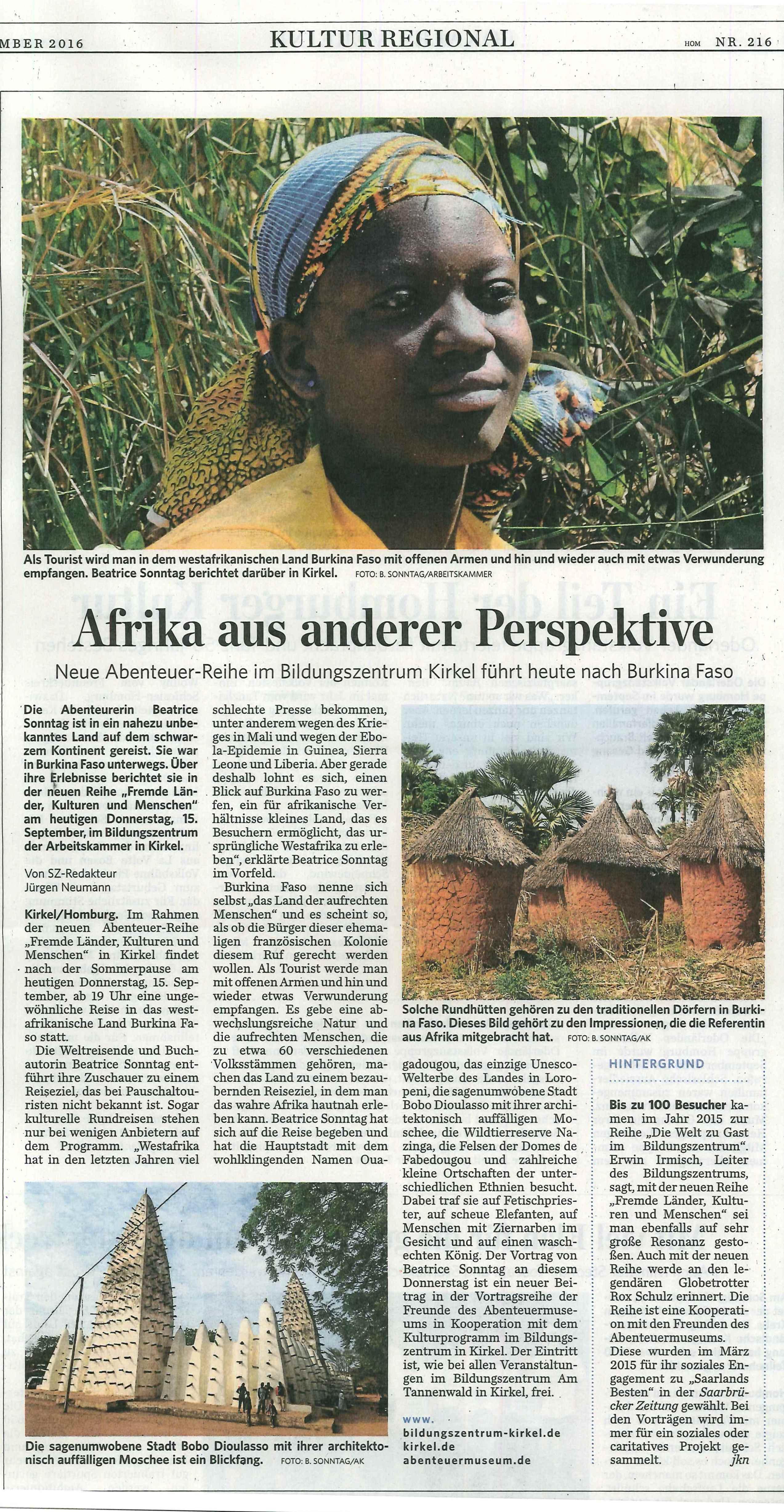 Bildervortrag über Burkina Faso